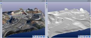 Fotogrametría con Drones o UAS, UAV shadedandtexturedDSM