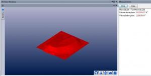 Fotogrametría con Drones o UAS, UAV volume between plane and surface
