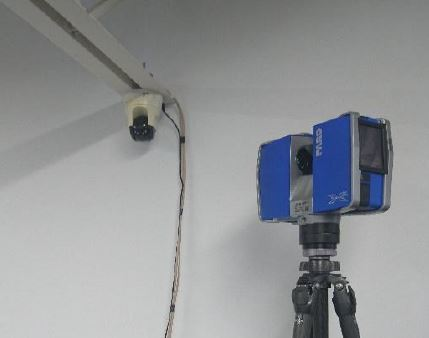 Laser Scanner with Security Camera