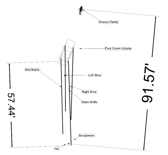 Crash Scene Diagram 1