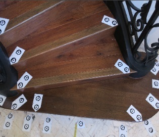 stair measurement with targets