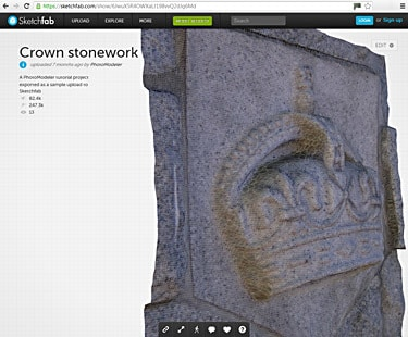 Sketchfab with PhotoModeler Export