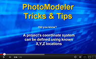 Video tip for coordinate system setup