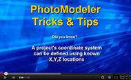 Video tip for coordinate system setup