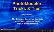 Tip 22 PhotoModeler Video