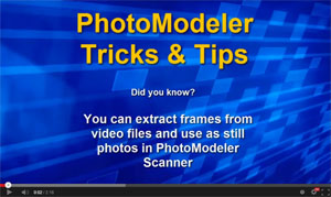 Tip 47: Extract stills from video for photogrammetry